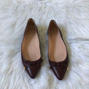 Kate Spade  Burgundy Emma Flats Size 7.5